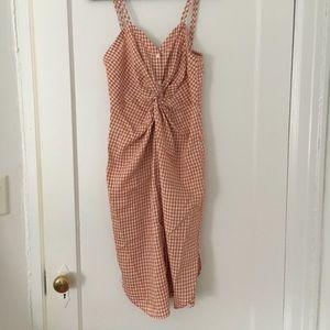 Zara gingham dress size small